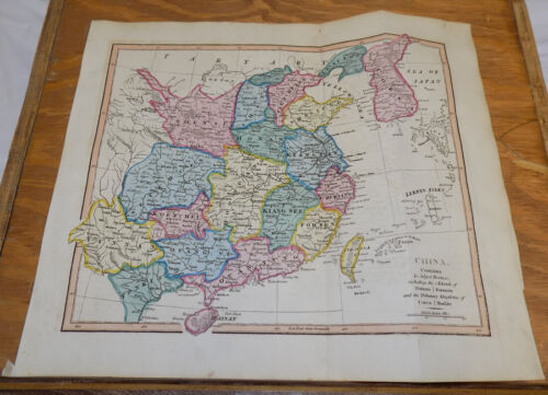 1817 Antique COLOR Map by Cooke///CHINA