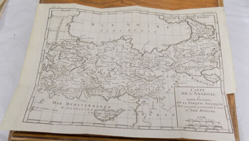 1784 Antique Map/DETAILED MAP OF ASIA MINOR, & ASIATIC ANADOLIA TURKEY AREAS, Pl