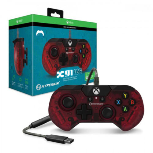 Hyperkin X91 Ruby Red Wired Controller For Xbox One & PC NEW