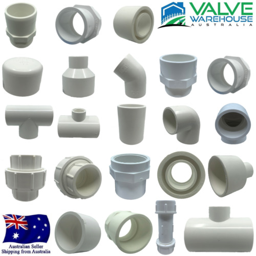 PVC PRESSURE FITTINGS - WIDE RANGE OF FITTINGS AND SIZES AVAILABLE