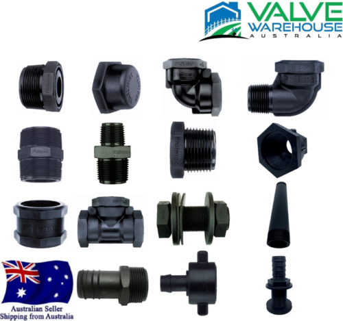 RURAL POLY - THREADED AND BARBED FITTINGS - BSP - RANGE OF FITTINGS AND SIZES