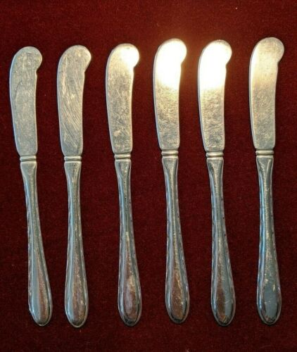 Towle Six Sterling Flat Handle Butter Spreader Silver Flutes Pattern No Monogram