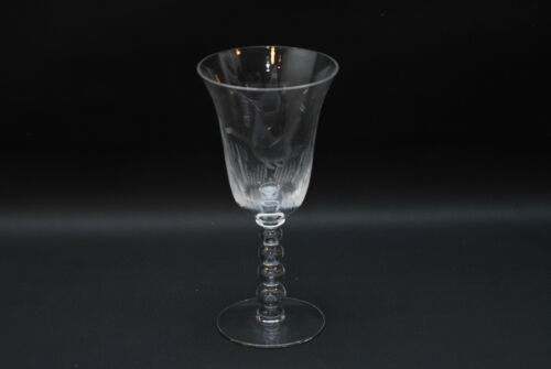 Imperial Glass Candlewick MALLARD ETCH Water Goblet 7 3/8 Inch