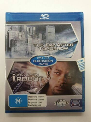 2 PACK THE DAY AFTER TOMORROW & I ROBOT BLU-RAY BLU RAY DISC DVD WILL SMITH...
