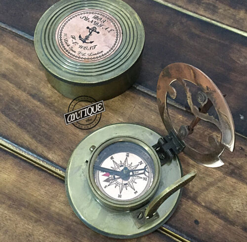 FatherDay Heavy Sundial Compass Handicraft Gift For Traveler Hiking/Camping C