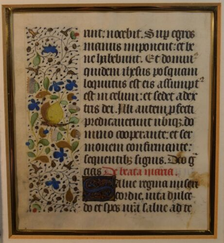 Fine Medieval Illuminated Manuscript