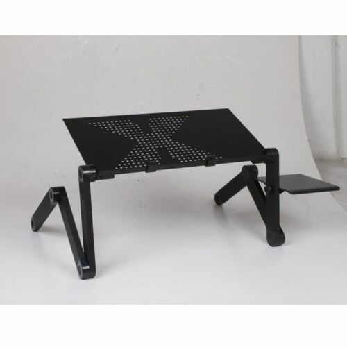 Portable Computer Desks Metal Adjustable Foldable Laptop Bed Table Vented Stand