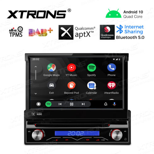 "Android 9.0 Single 1 Din GPS Sat Car Stereo DVD Player Bluetooth 7"" Touch Screen"
