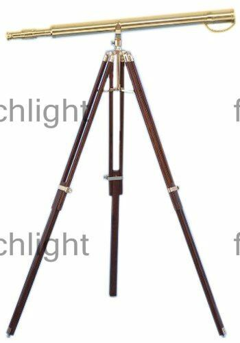 Nautical Brass TELESCOPE 39 Inch Vintage Style Tripod Stand Collectible Designer