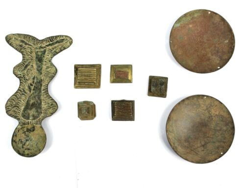 Art African - Set Of Weight And Tools IN Weigh Powder Gold Akan - Goldweight