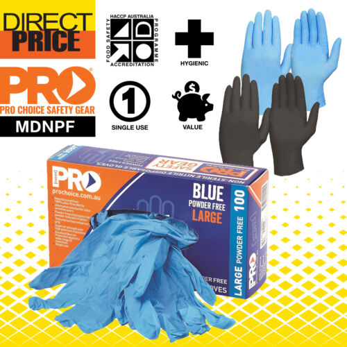 100pcs Disposable Gloves Medical Use Nitrile Powder Free Daily Work Non Sterile