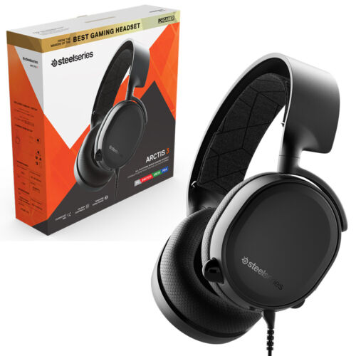 Steelseries Arctis 3 Black Wired Gaming Headset NEW
