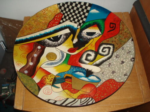 VIETNAMESE MODERN ART - ABSTRACT -  WALL HANGING - Hand painted - lacquered