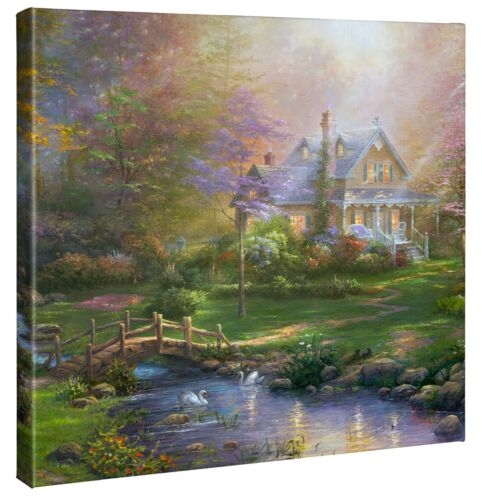 Thomas Kinkade Studios A Mother's Perfect Day 20 x 20 Gallery Wrapped Canvas