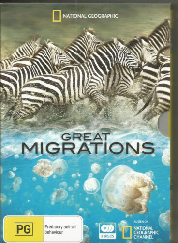 national geographic Great MIGRATIONS  - DVD - 3 disc  REGION 4