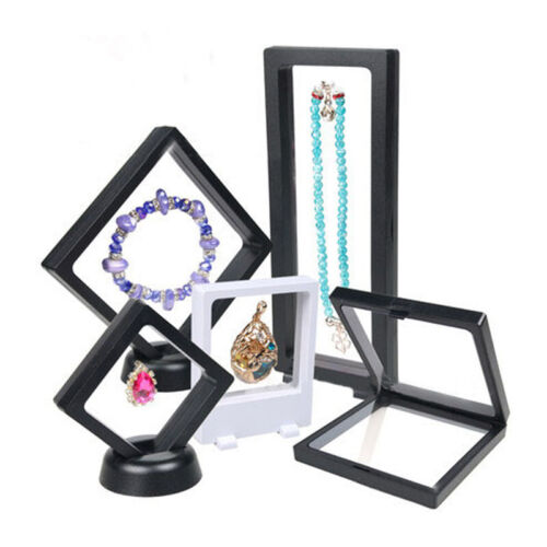 1x Plastic Jewelry Display Box Necklace Ring Earrings Holder Stand Showcase Hot