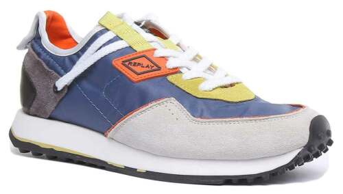 Replay Tag81 Mens Casual Running Shoe In Blue Grey Size UK 6 - 12