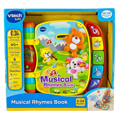 VTech Musical Rhymes Book Educational Toy NEW