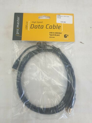 Promaster High Speed USB A to USB Mini Type B Data Cable
