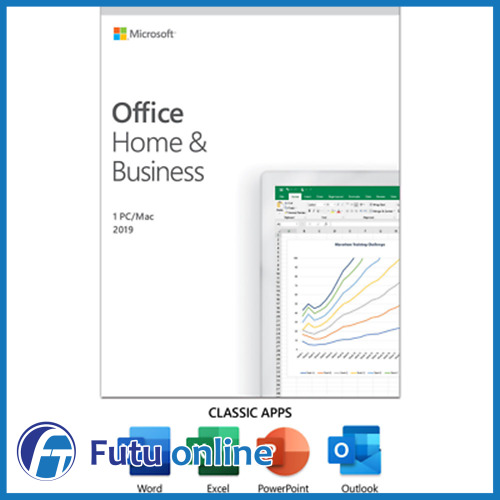 Microsoft Office 2019 Home and Business PC & Mac Retail Pack 1 License Medialess
