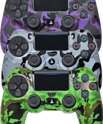 Silicone Cover For PS4 Controller Case Skin Cool Designs Extra Grip