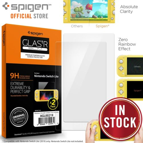 Genuine Spigen GLAStR 9H Glass Screen Protector for Nintendo Switch Lite 2PCS