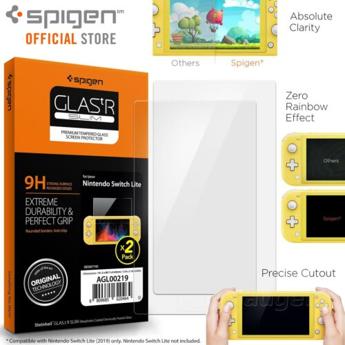 [FREE EXPRESS] Spigen GLAStR Glass Screen Protector for Nintendo Switch Lite 2PC