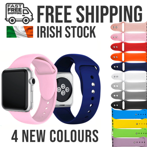 Apple Watch Strap Silicone Replacement Straps Series SE/6/5/4/3/2/1 <br/> Irish Stock ✔ Free Shipping ✔ Ships from Dublin ✔