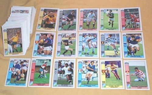 1991 WORLD CUP RUGBY UNION 166 CARD SET - NICE CONDITIONRugby Union Cards - 2969