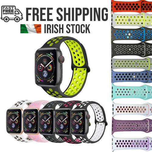Apple Watch Nike Style Replacement Silicone Straps SERIES 1, 2,3,4 AND 5 <br/> Irish Stock ✔ Free Shipping ✔ Ships from Dublin ✔