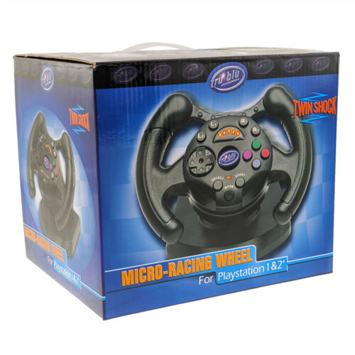 Tru Blu Accessories Racing Wheel for PlayStation PS1 & 2 NEW