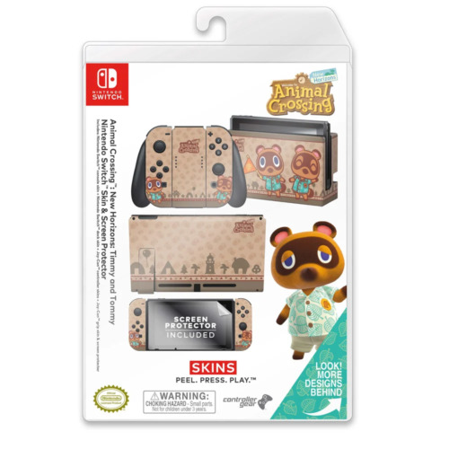 Controller Gear Animal Crossing Timmy & Tommy Switch Skin & Screen Protector Set