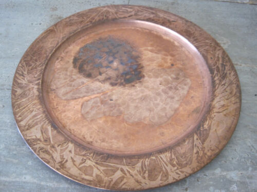 Old Primitive Hand Made Copper Plate from Boston Massachusetts Unusual Find AAFA
