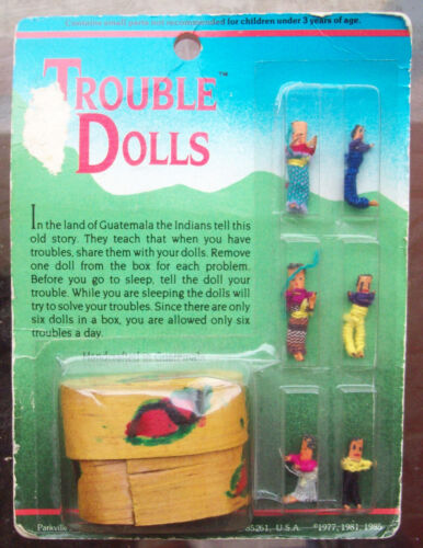 Trouble Dolls' House Dream Catcher With Case Made by Hand IN Guatemala