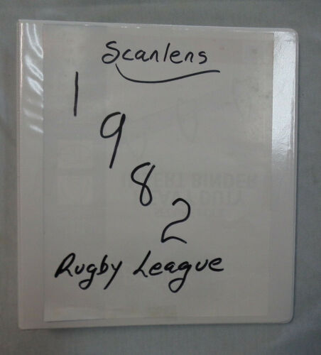 #AA9.  1982  SET OF 180  SCANLENS  RUGBY  LEAGUE CARDSRugby League (NRL) Cards - 25583