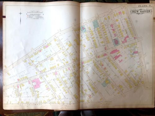 New Haven, CT map from 1888 Atlas - Original - Congress Ave