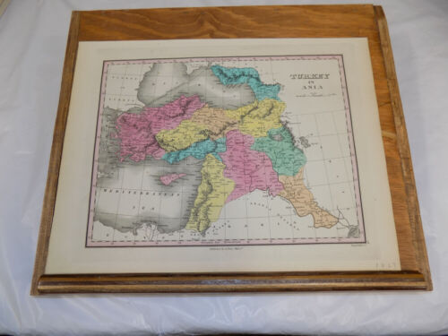1827 Antique COLOR Finley Map of TURKEY IN ASIA