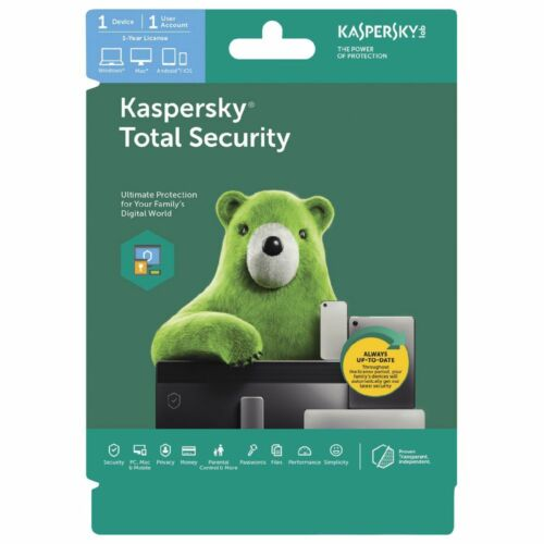 Kaspersky Total Security (KTS) OEM (1 Device 1 Year) Supports PC, Mac, & Mobile
