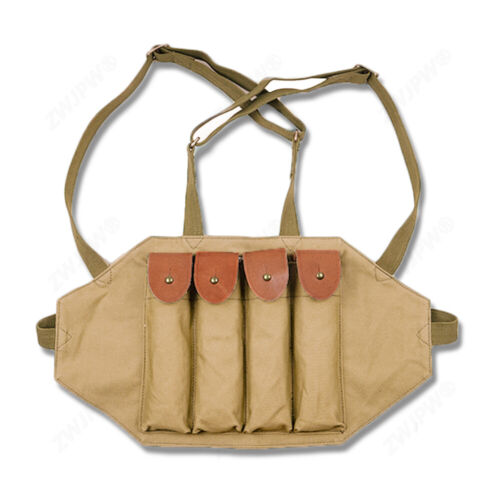 Chinese Army Type 50 PPS 43 Magazine Pouch Ammo Pouch Thompson Chest Rig PackReproductions - 156445