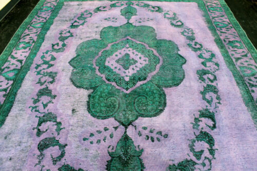10X13 1920s INCREDIBLE HAND KNOTTED 90+YEARS ANTIQUE WOOL TABRIZZ DISTRESSED RUG