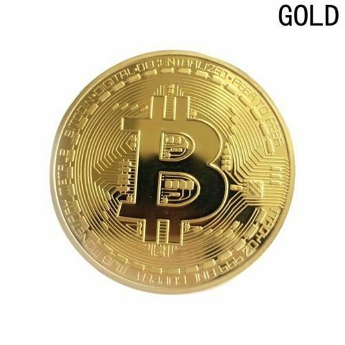 1x Bitcoin Collectable Coin in case Commemorative Coin Gifts