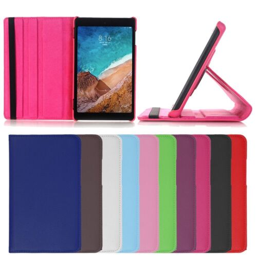 """For Xiaomi Mi Pad 4 Tablet 8.0"""" 360° Rotating Folio Leather Stand Case Cover"""
