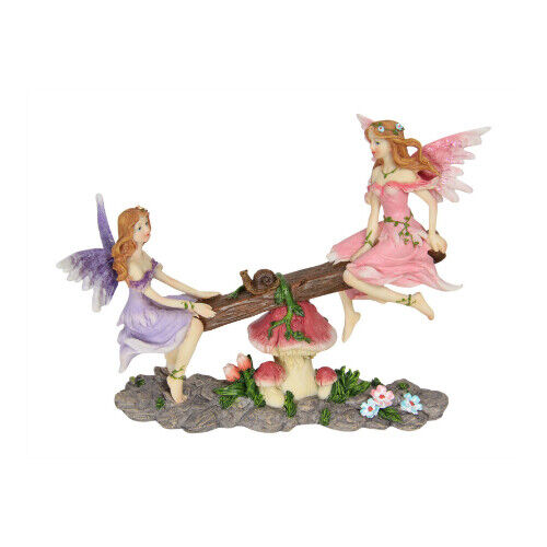 Playing18cm Fairies  on Seesaw Figurine Collectable Home Decor Girl Gifts