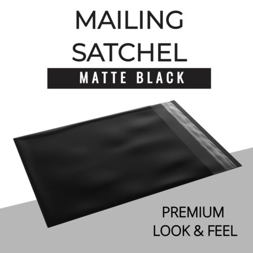 Black Courier Bags Mailing Satchel Self Sealing Recyclable Plastic Poly Mailer