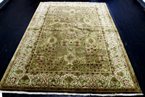 9X6 ONE IN MILLION NEW 300+KPSI HAND KNOTTED GOLD WOOL PAK TABRIZZ ORIENTAL RUG