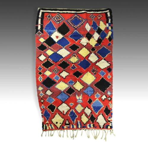 PILE CARPET WOOL BERBER AZILAL ATLAS MOROCCO NORTH AFRICA TEXTILES LATE 20TH C.