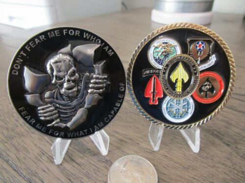 US Special Operations Command JSOC SOCOM AFSOC NSWC MARSOC Reaper Challenge Coin