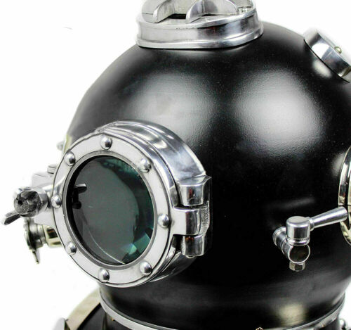 WWII Replica Solid Iron Scuba Diving Helmet US Navy Valentine Decor Best Gifts