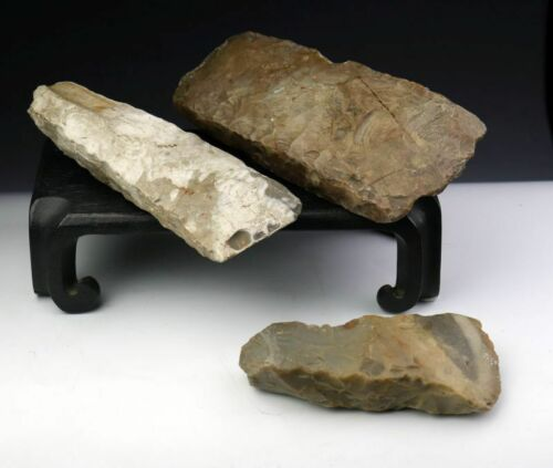 *SC*NICE LOT OF THREE DANISH NEOLITHIC AXES, 4th-3rd mill BC!