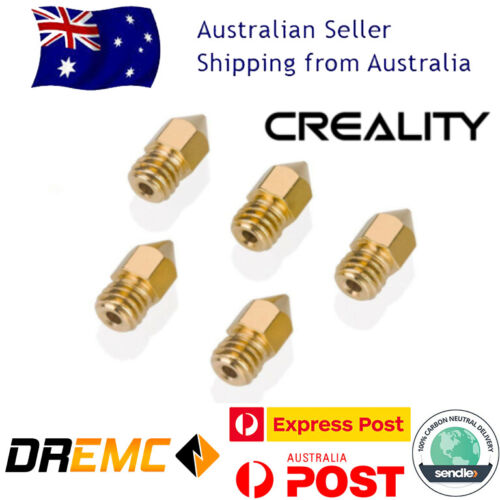 Creality 5PCS 3D Printer 1.75mm MK8 Extruder Nozzle For Ender 3 PRO CR10